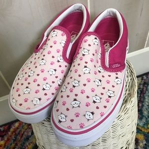Vans Girls Ditsy Kitty Cat Size 2 Never Worn